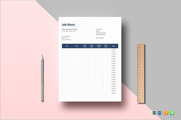 Employee Contact Sheet Template