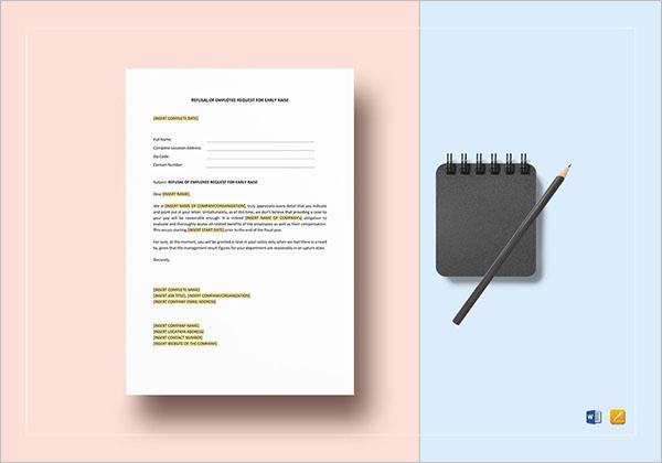 Employee Refusal Form To HR