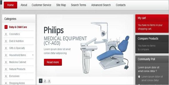 Equipment for Hospital Magento Theme
