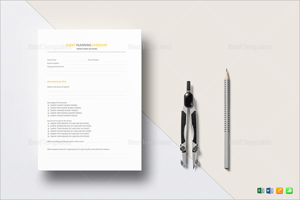 Event Checklist Template For Wedding