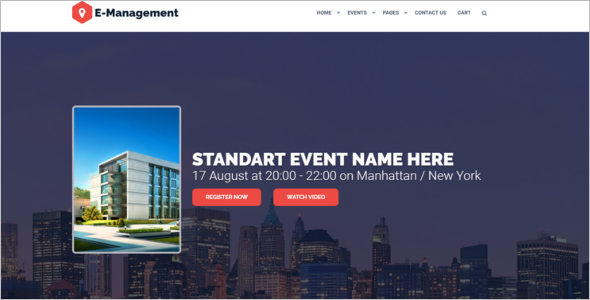 Event Management Bootstrap Theme
