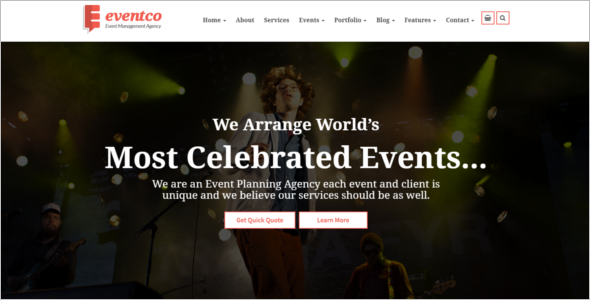 Event Management Website Fash Template