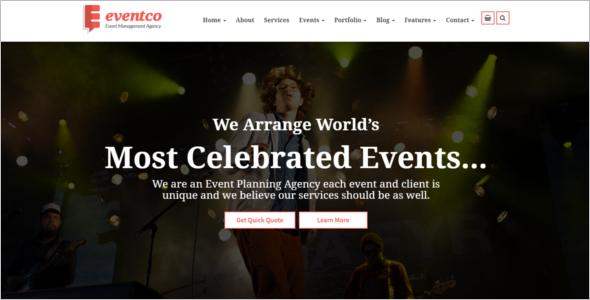 Event Management Website Fash Template