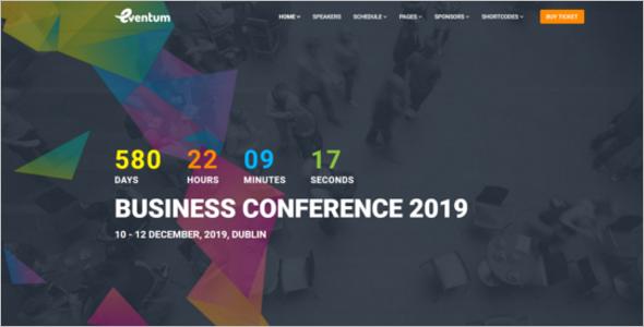 Event Management Website Template