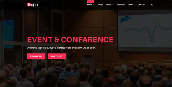 Event Management Website WordPress Theme