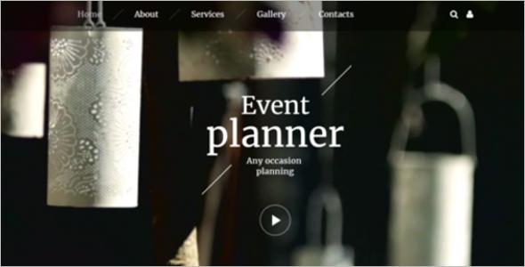 Event Organiser Website Template
