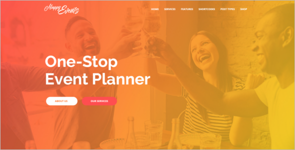 Event Planner Website Theme