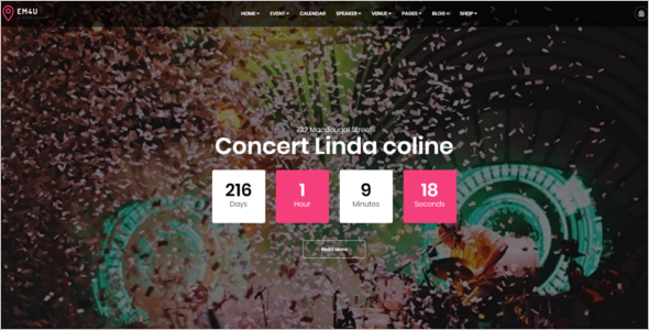 Event Website Template Bootstrap