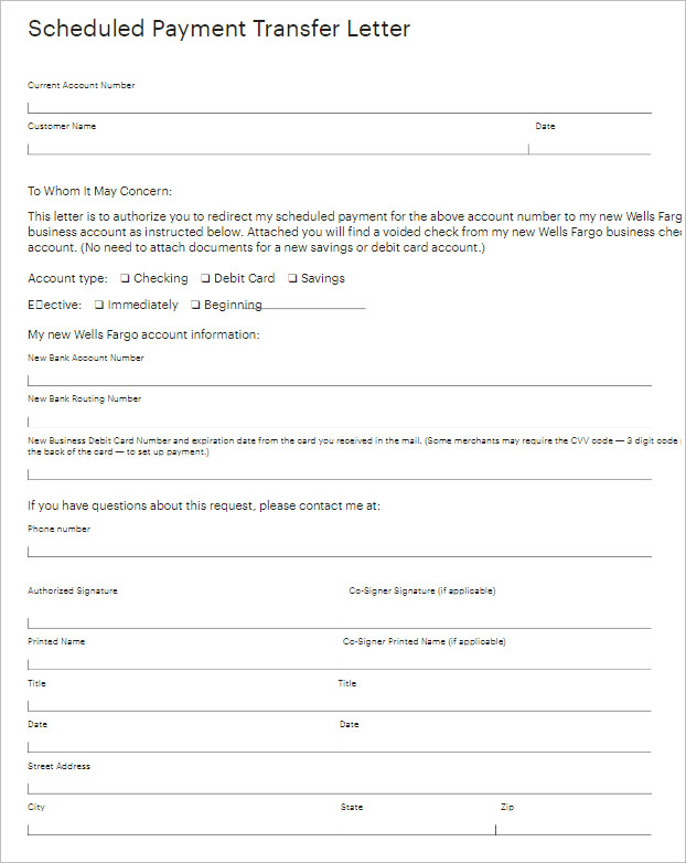 Example Of Transfer Letter Template