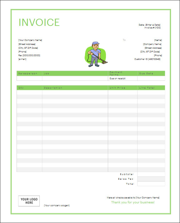 Example Of Service Receipt Template