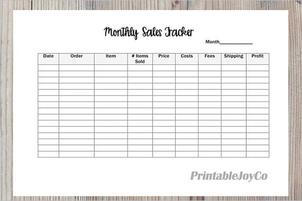 12 sales tracking templates free excel pdf word formats
