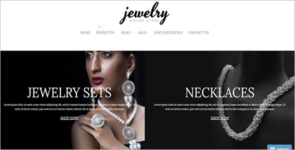 Eye-Catching Jewelry Bootstrap Tempate
