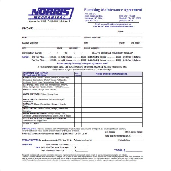 10 Plumbing Receipt Templates Free Pdf Doc Sample Formats