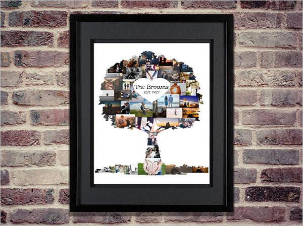 Family Tree Photo Art Template