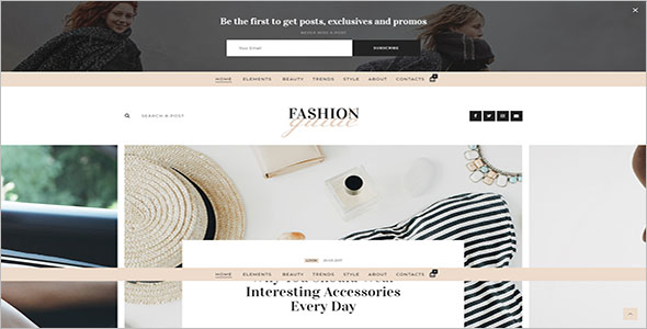 Fashion Grid Blog Template