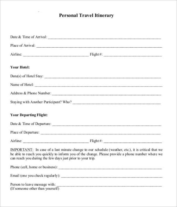 Field Trip Agenda Template