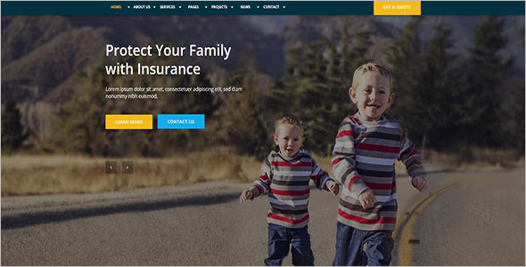 Finance Insurance WordPress Theme