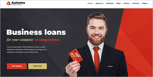 Finance Service WordPress Theme