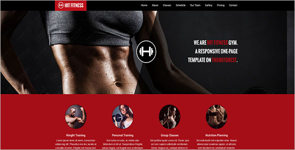 Fitness Joomla Template