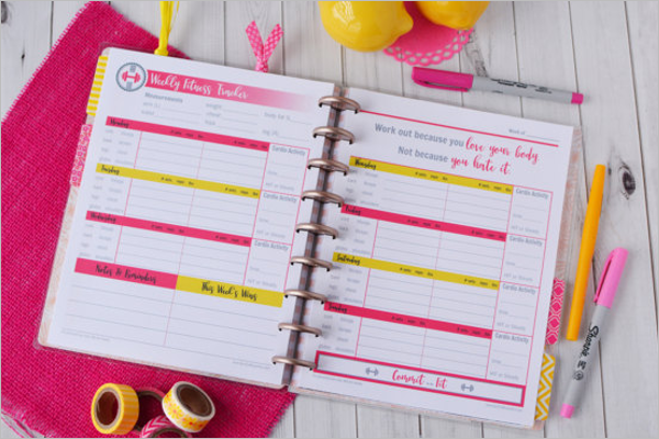 Fitness Workout Log Template
