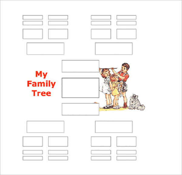 five generation family tree template
