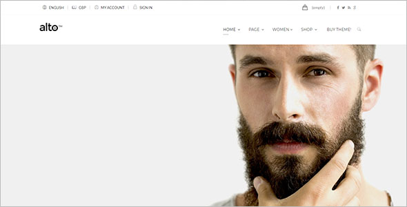 Flat Design Website Prestashop Theme