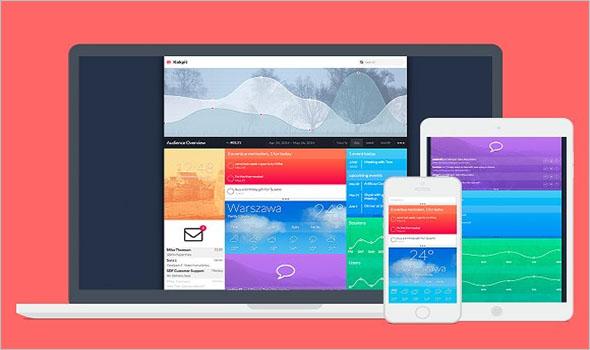 Flat HTML Dashboard Template
