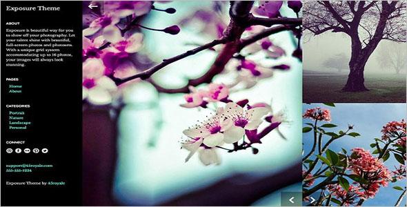 Floral Portfolio Tumblr Theme