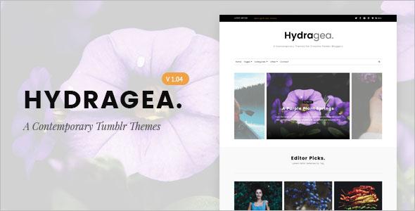 Floral Tumblr Theme