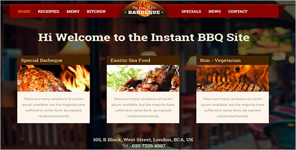 Food & Beverages HTML5 Website Template
