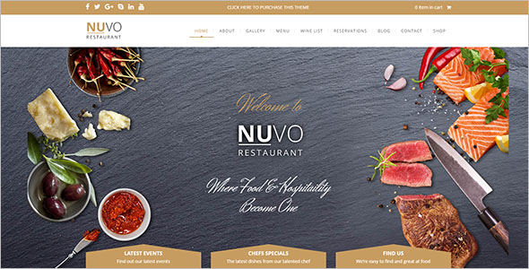 Food Business WordPress Theme