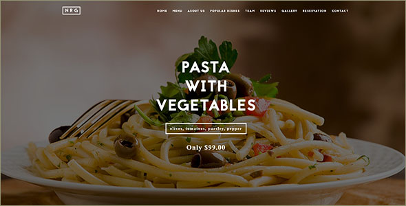 Food Catering Drupal Template