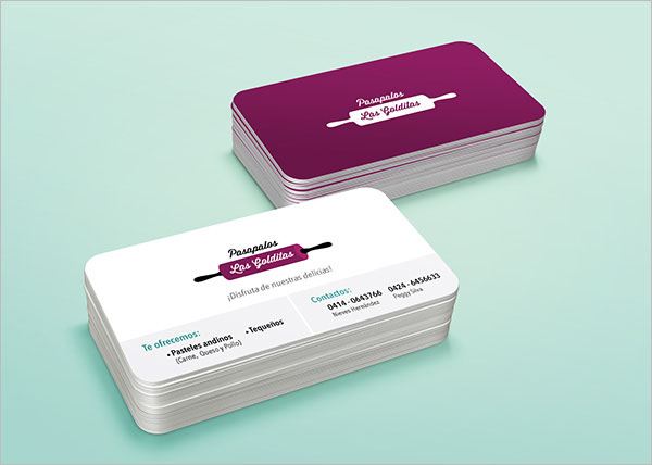 Food Catering Services Visiting Card Design
