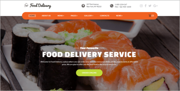 Food Delivery Service Website Template