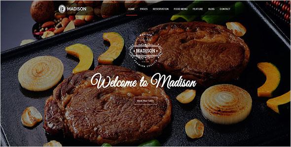 Food Joomla Restaurant Template
