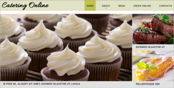 Food Order Responsive Website Template