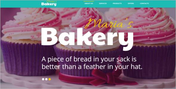 Food Ordering Shop Website Template