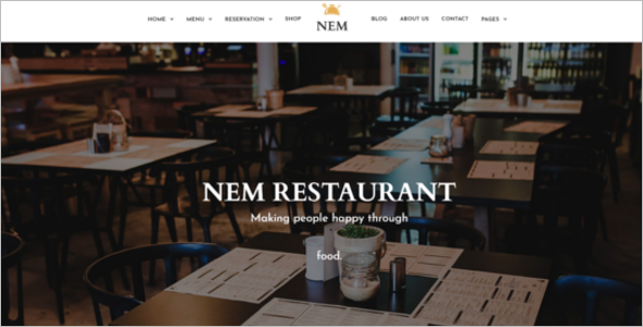 Food Ordering Website Template Download