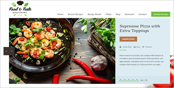 Food Recipes Website Template