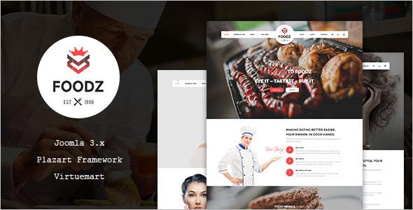 Food & Restaurant VirtueMart Theme