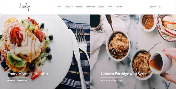 Food & Lifestyle WordPress Theme