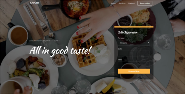 Free Cafe Website Template