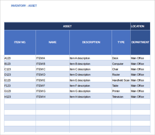 Free Cash Flow Inventory Tracker Template