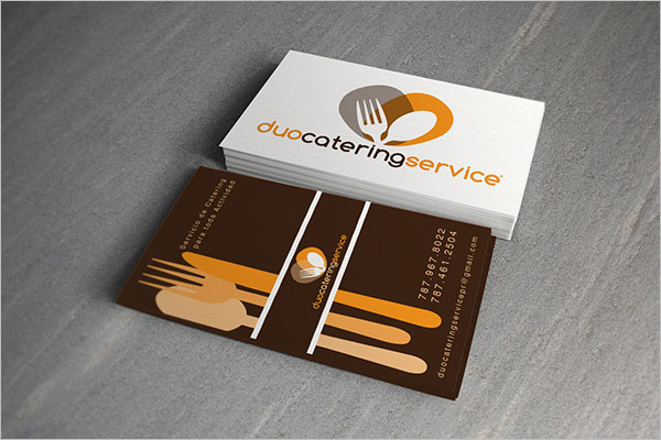 Free Catering Services Business Card Design