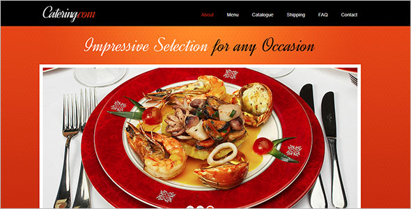 Free Catering Website Template