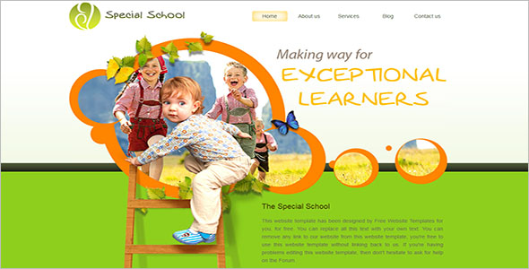 Free Children's Website Template