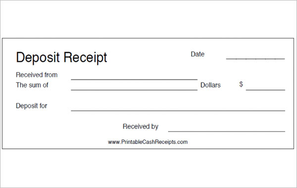 24 Deposit Receipt Templates Free Pdf Word Excel Doc