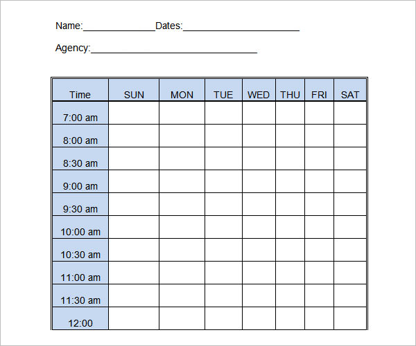 Free DownloadDaily Log Template