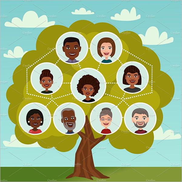 Free Family Tree Diagram Template