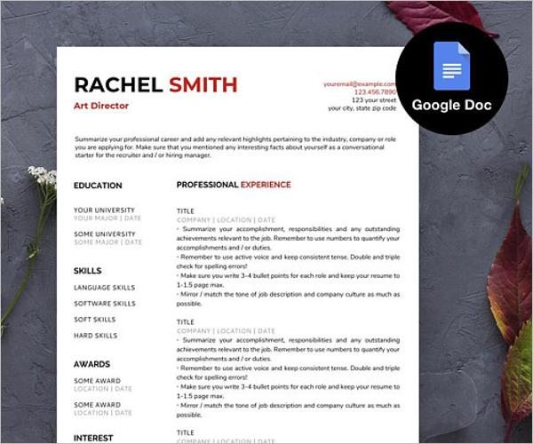 Free Google Docs Template